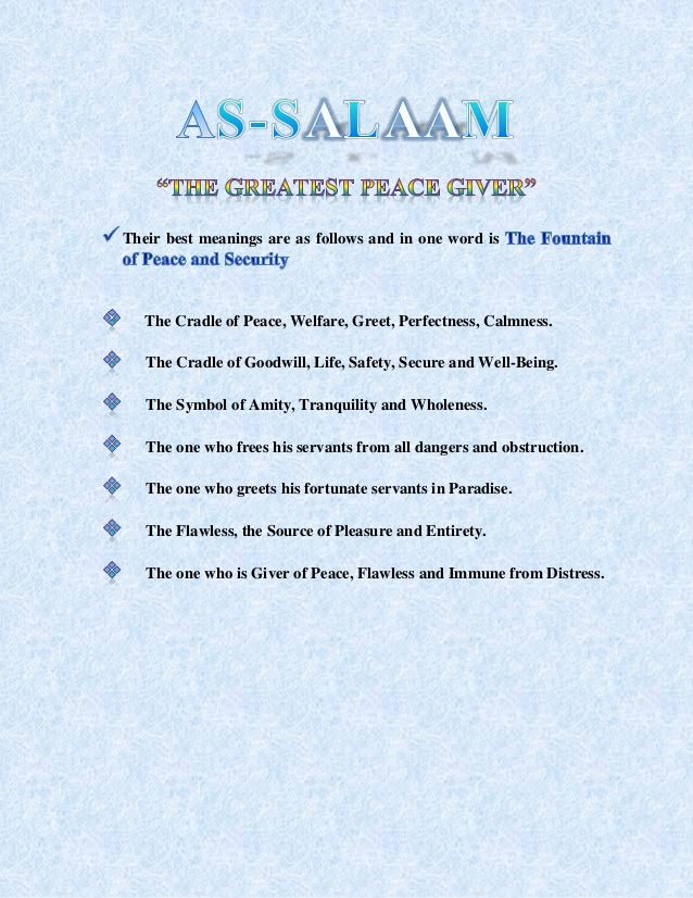 Salaam and its importance in islam 6 m4hsunfo