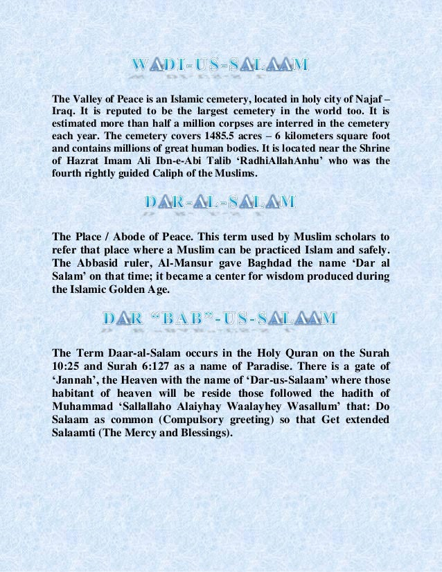 Salaam and its importance in islam 8 m4hsunfo