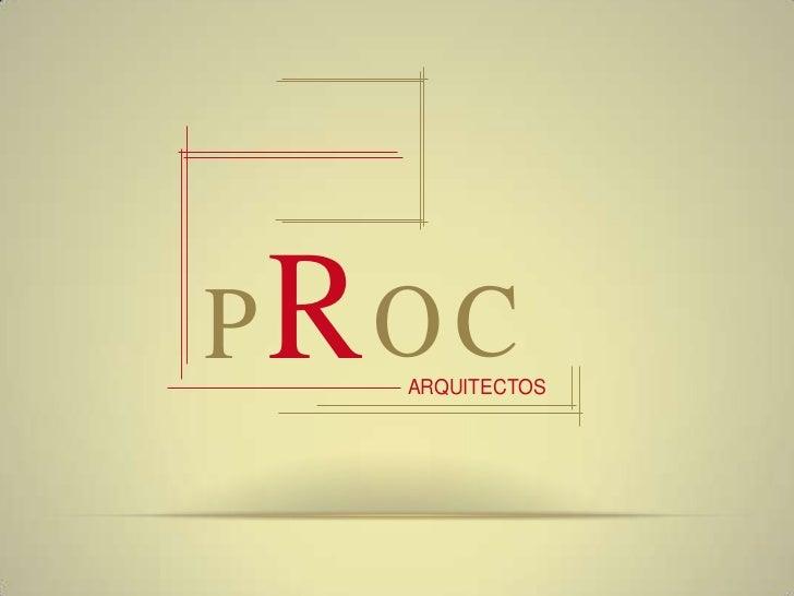PROC  ARQUITECTOS