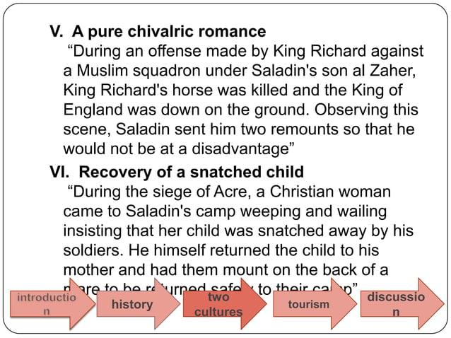Saladin  andTourism
