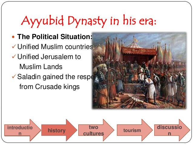 Ayyubid Dynasty in his era: The Political Situation: Unified Muslim countries Unified Jerusalem to  Muslim Lands Salad...