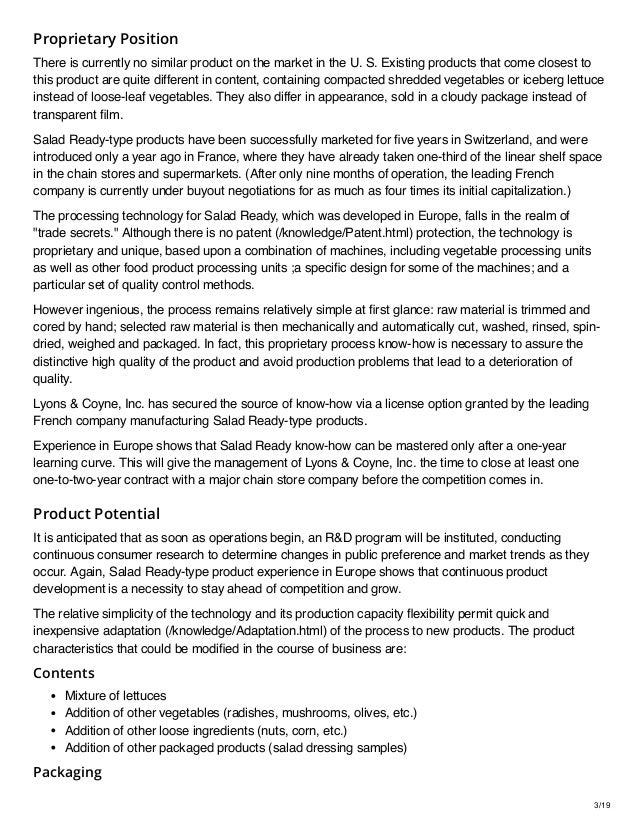 Salad Packaging Business Sample Plan Slide 3