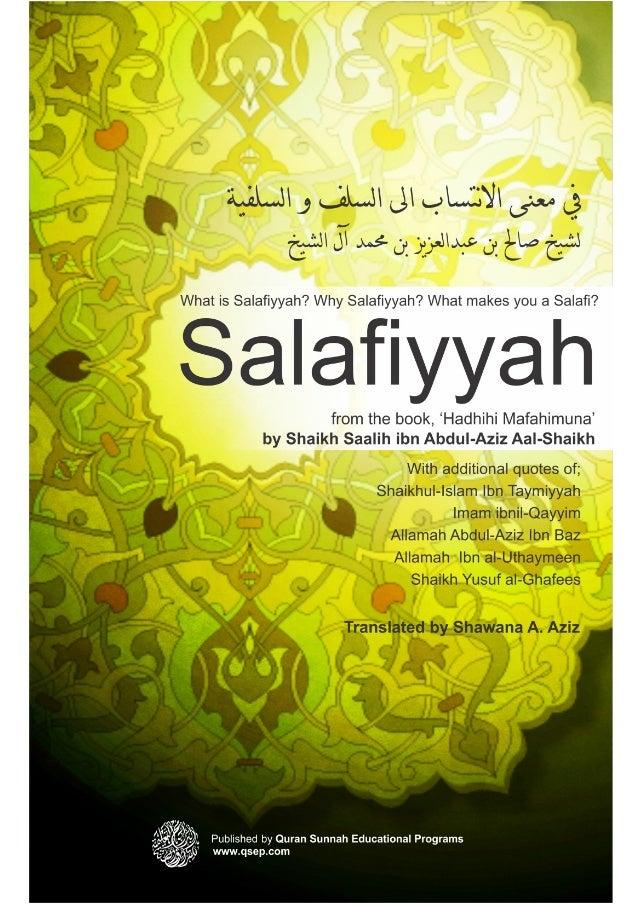What is Salafiyyah? | Why Salafiyyah? | What makes you a Salafi? Salafiyyah from the book, 'Hadhihi Mafahimuna' by Shaikh ...