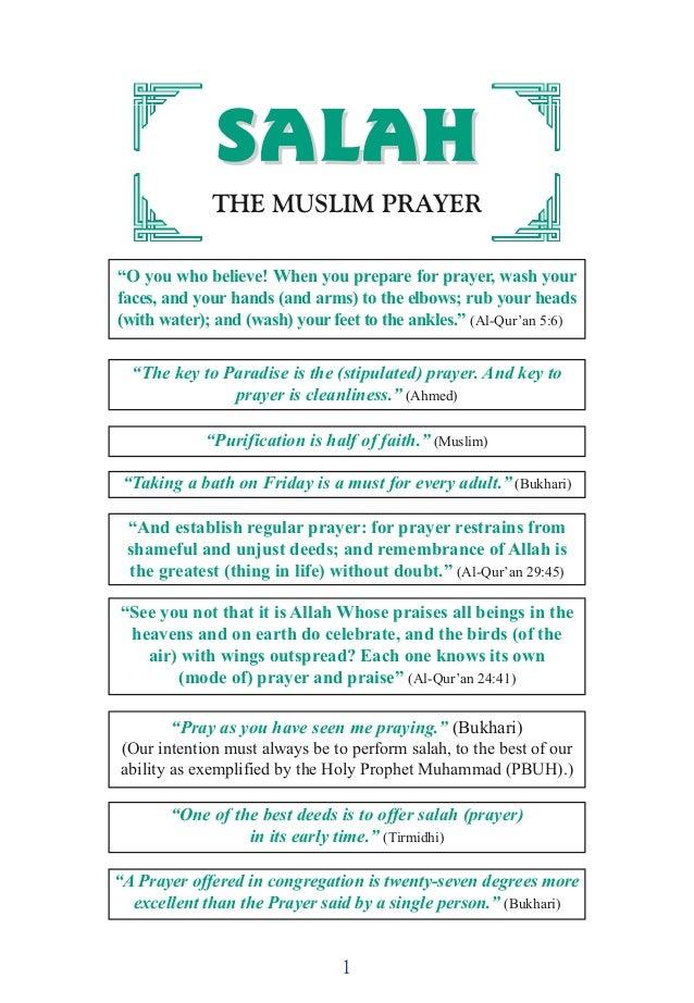Salah (the Muslim prayer)