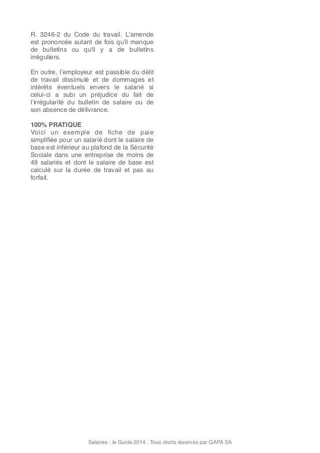 Salaires le guide 2014 - Salaire plafond de la securite sociale ...
