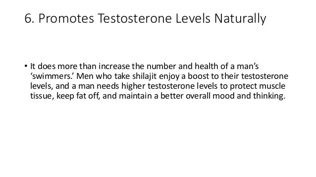 6. Promotes Testosterone Levels Naturally • It does more than increase the number and health of a man's 'swimmers.' Men wh...