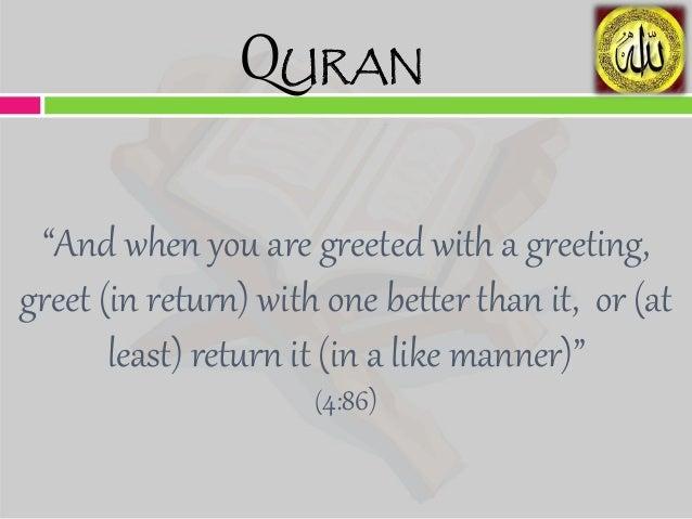 greeting salam