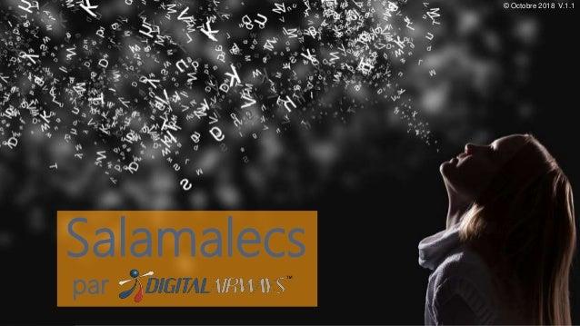 1 / 18 Salamalecs par © Octobre 2018 V.1.1
