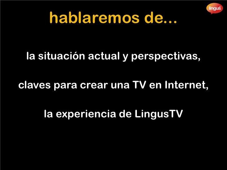 El Español y la TV 2.0 Slide 2