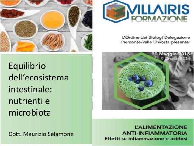 Equilibrio dell'ecosistema intestinale: nutrienti e microbiota Dott. Maurizio Salamone