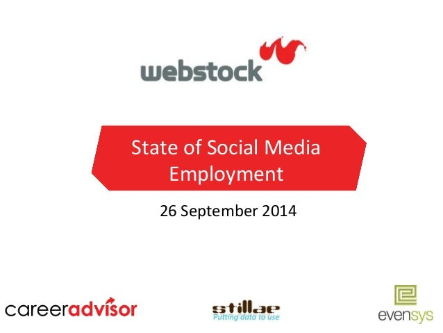 State  of  Social  Media  Employment  26  September  2014