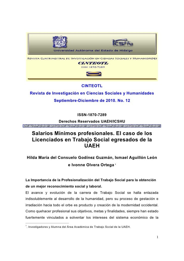 CINTEOTL     Revista de Investigación en Ciencias Sociales y Humanidades                   Septiembre-Diciembre de 2010. N...