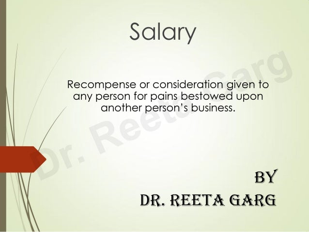 concept of Salary under Income Tax Law