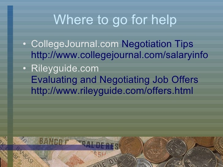 Salary And Offer Negotiation
