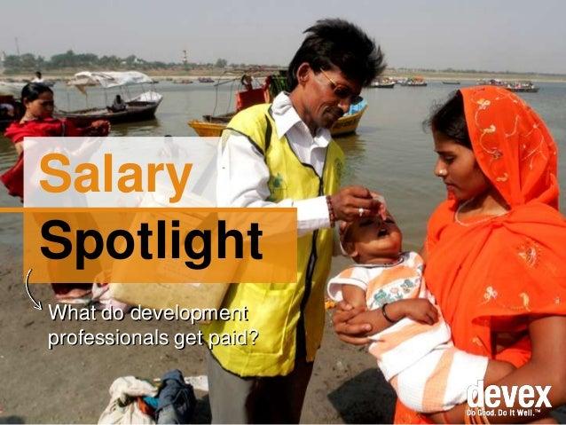 Salary Spotlight What do development professionals get paid?