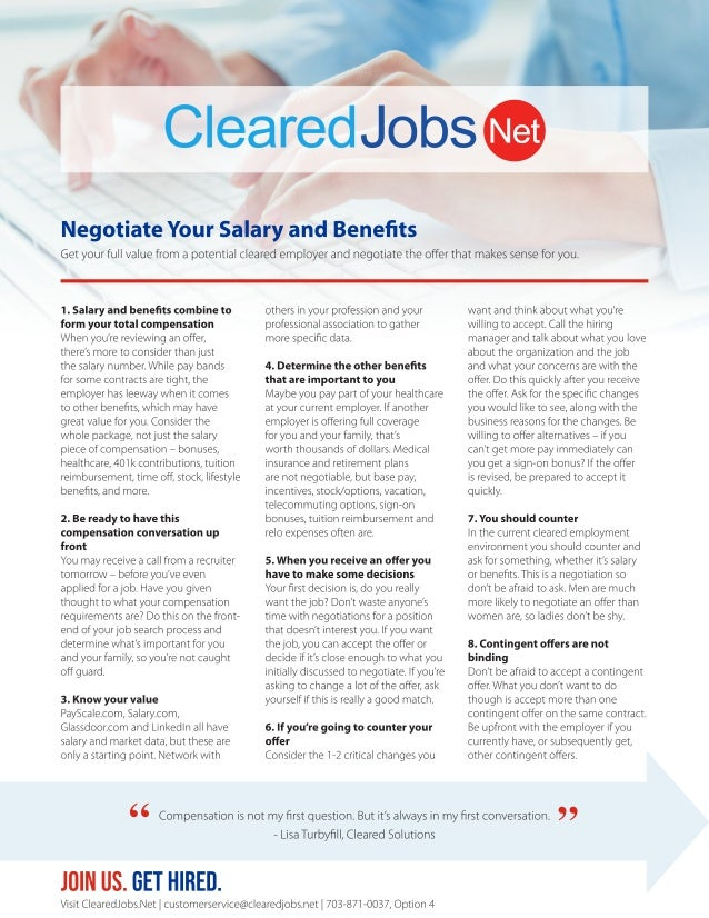 Negotiate Your Salary and Benefits