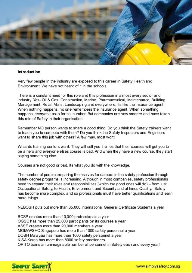 Salary Guide And Career Path Of A Safety Professional