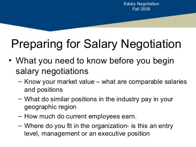 negotiation salary