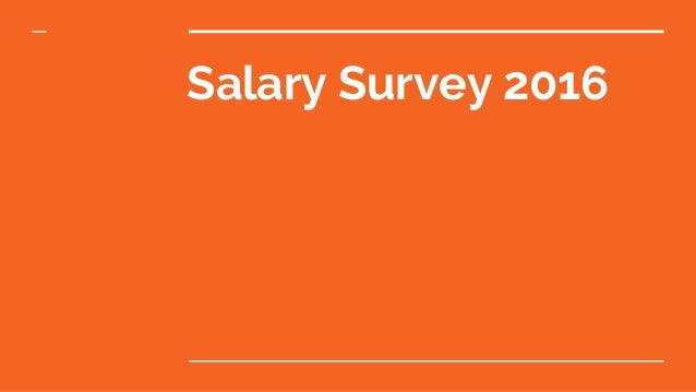 Salary Survey 2016