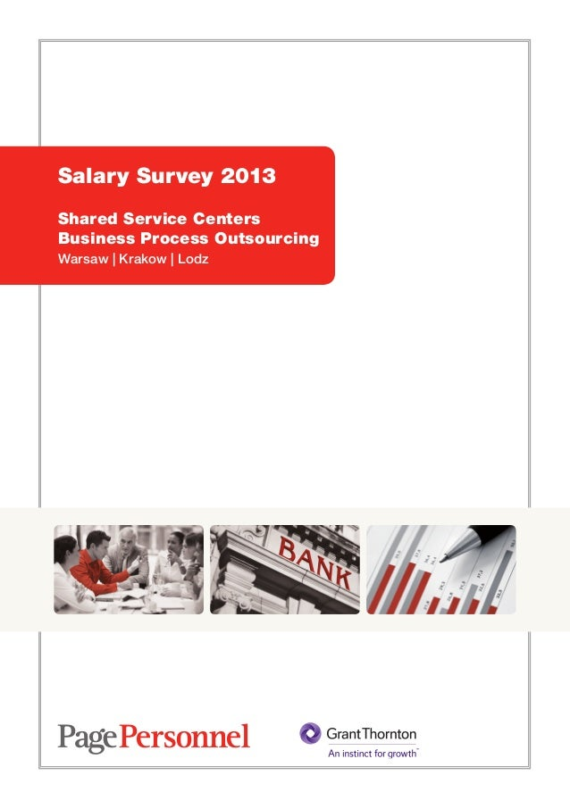 Salary Survey 2013Shared Service CentersBusiness Process OutsourcingWarsaw | Krakow | Lodz