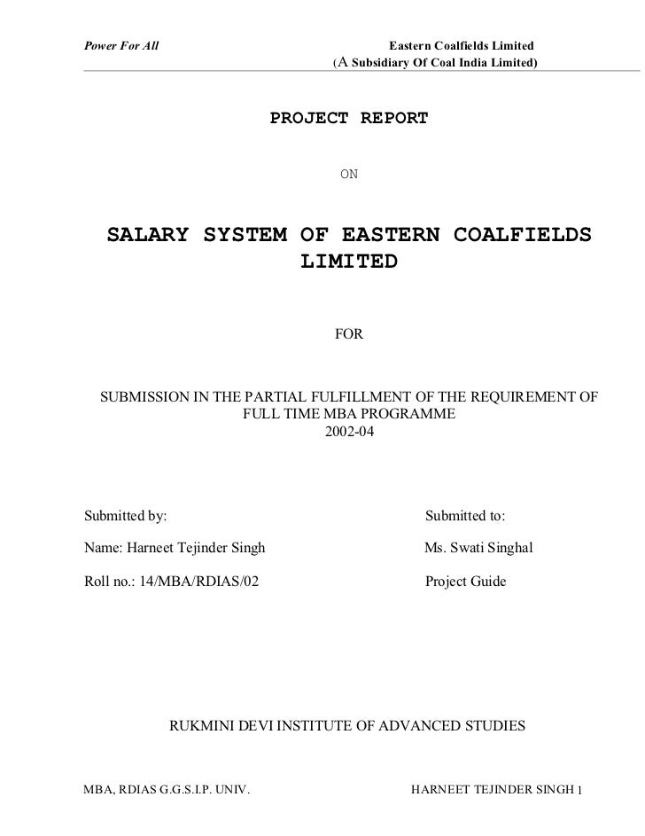 Power For All                                Eastern Coalfields Limited                                    (A Subsidiary O...