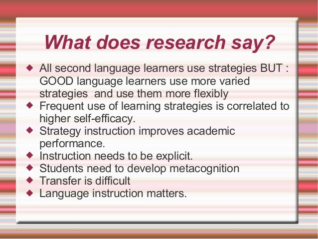 Metacognition and transfer of learning