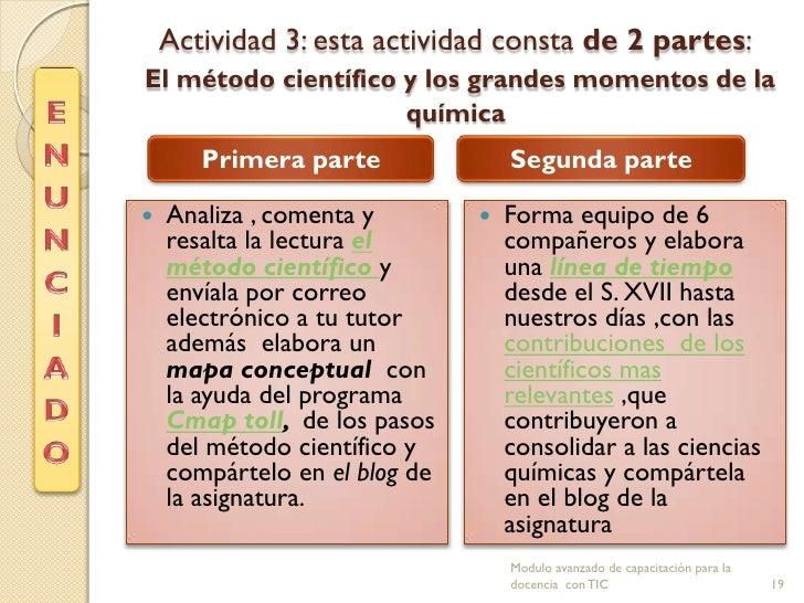 Actividad 3: esta actividad consta de 2 partes:El método científico y los grandes momentos de la                     quími...