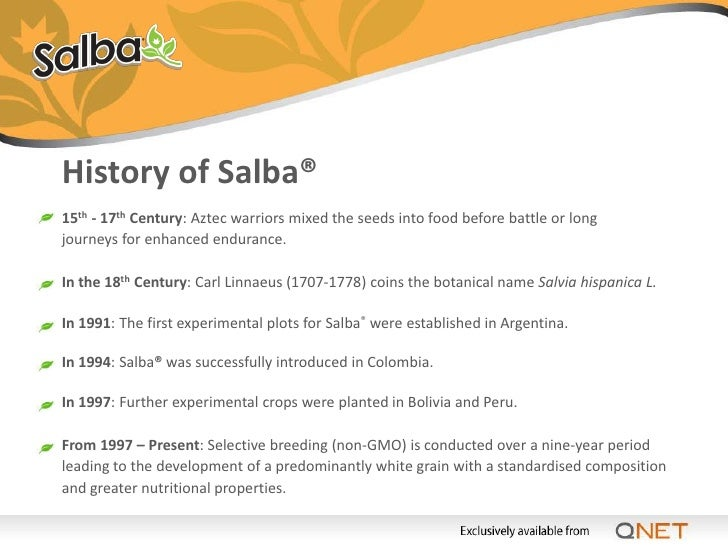 The Agricultural Science of Salba® After the creation of the Salba® variety, its potency has been further maximised throug...
