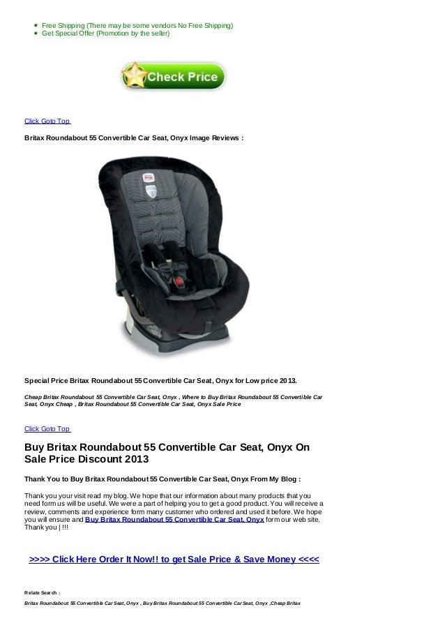 Sale Britax Roundabout 55 Convertible Car Seat Onyx
