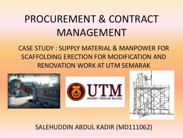 Materials Management (MM) Case Study – Lecturer Notes