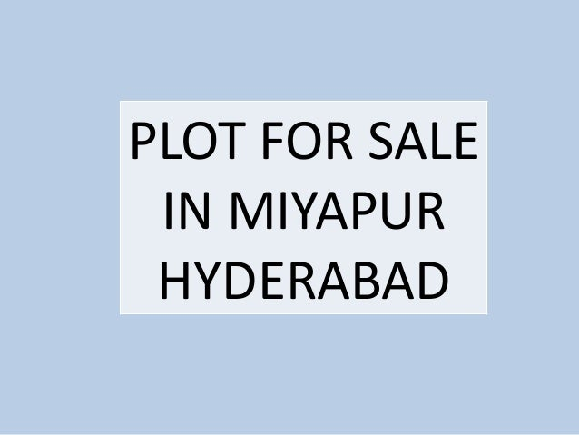 Plot For Sale in Miyapur hyderabad
