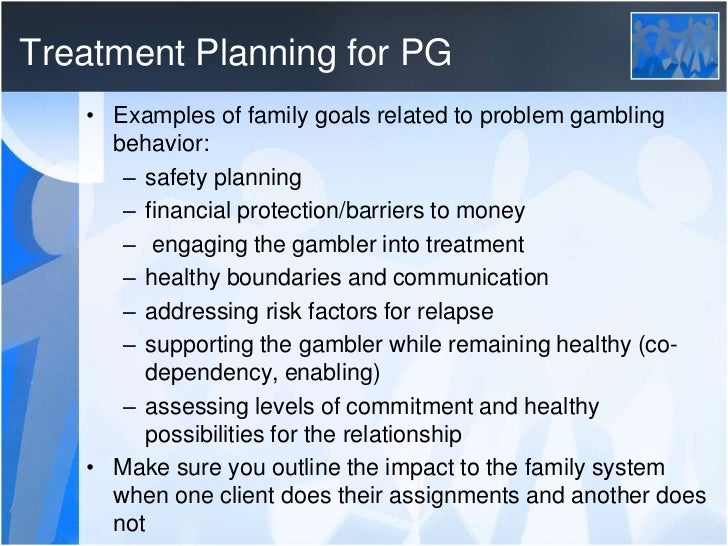 Treatment plan for pathological gambling casino directory by state