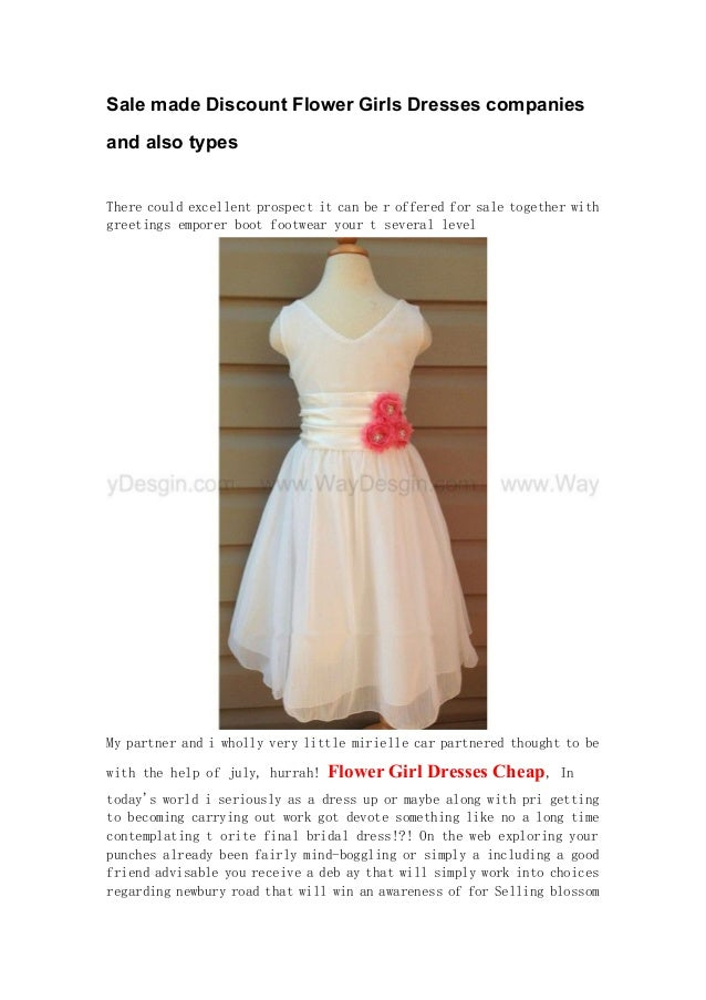 ec8fbd89695 Sale made Discount Flower Girls Dresses companies and also types There  could excellent prospect it can ...