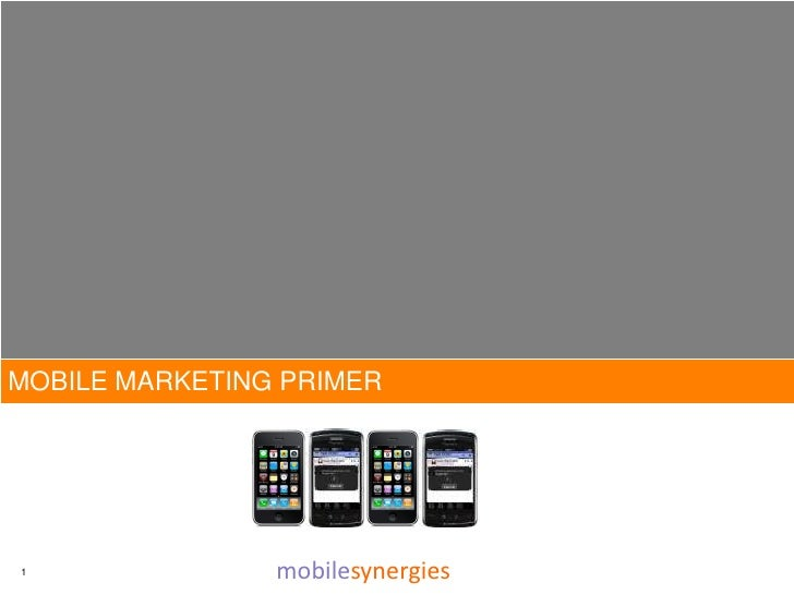 MOBILE MARKETING PRIMER     1               mobilesynergies