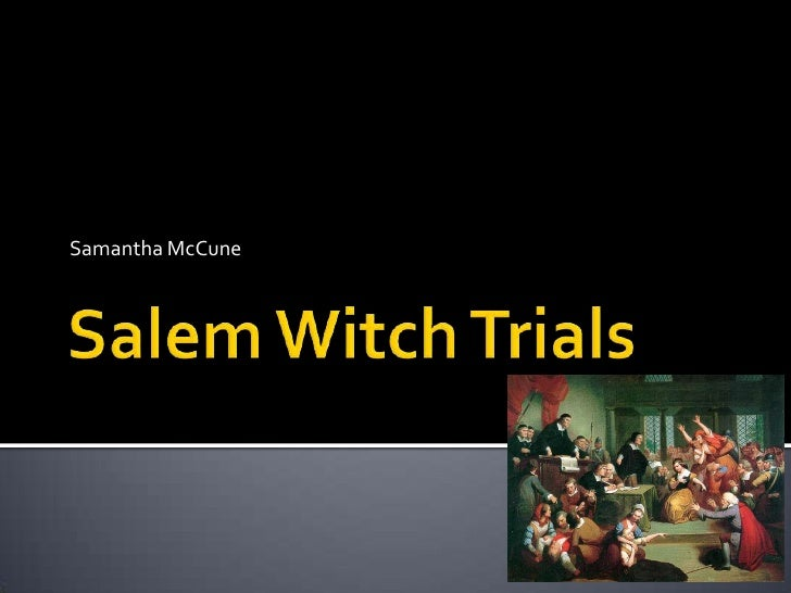 salem witch trial research paper