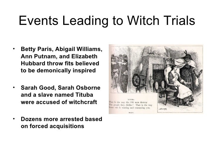 an analysis of the events in the salem witch trials Gender)and)the)salem)witchcraft)trials) the)salem) american)society,)the)salem)witch)trials)have detailed)account)and)[biased])analysis)of)the)trials)right.