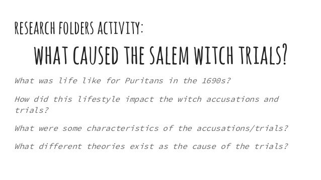 Salem witch trials research paper thesis