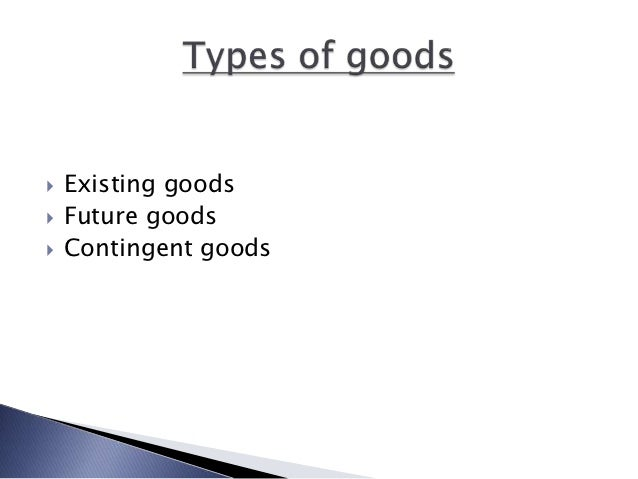 "Meaning in ""goods"""