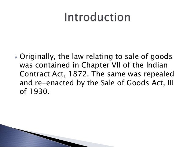 Sale of Goods Act 1979 - Essay Example