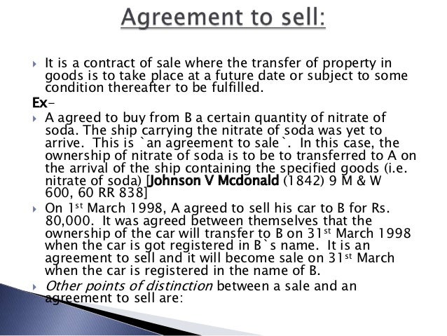 Sale of goods act 1930 – Selling a Car on Payments Contract