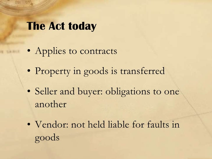 Term paper for sale goods act 1979