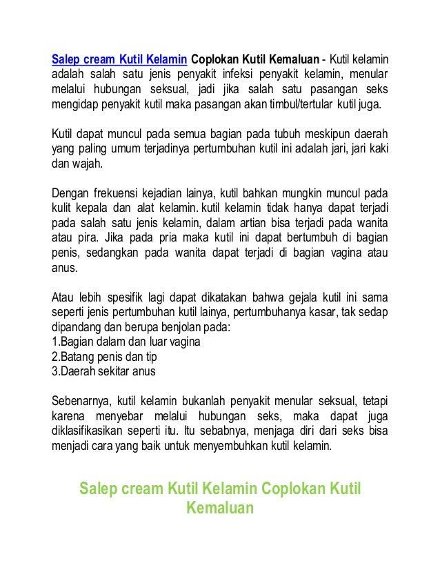 Salep cream Kutil Kelamin Coplokan Kutil Kemaluan - Kutil kelamin adalah salah satu jenis penyakit infeksi penyakit kelami...
