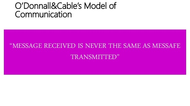 Sale person's communication