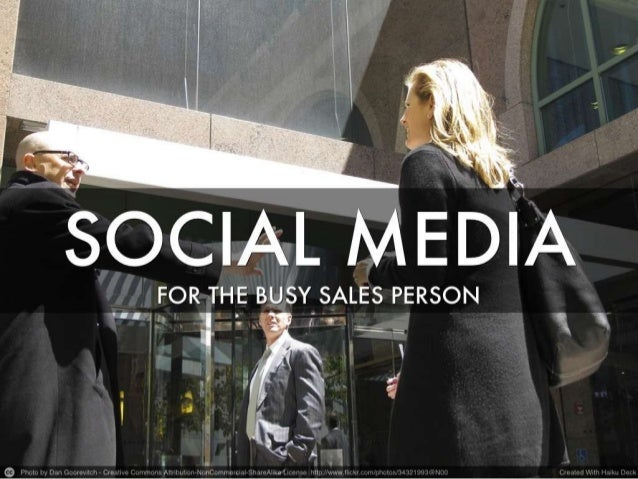 Social Media for the Busy Sales Person