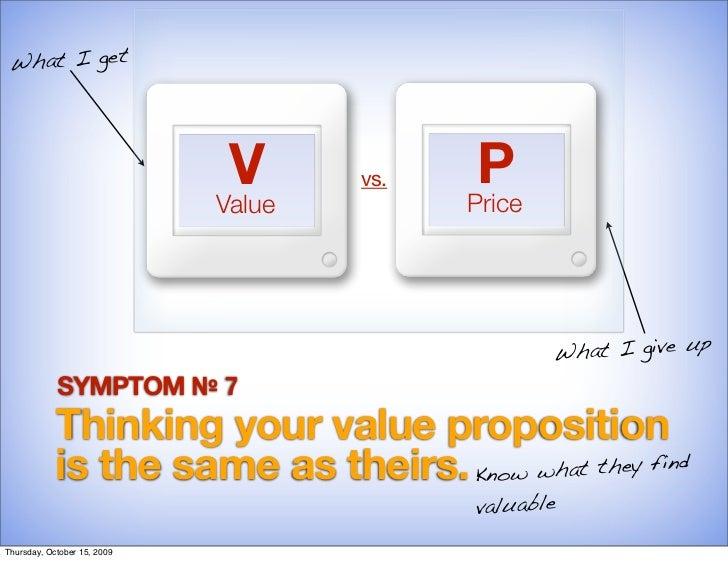 What I get                                   V      vs.    P                              Value         Price             ...