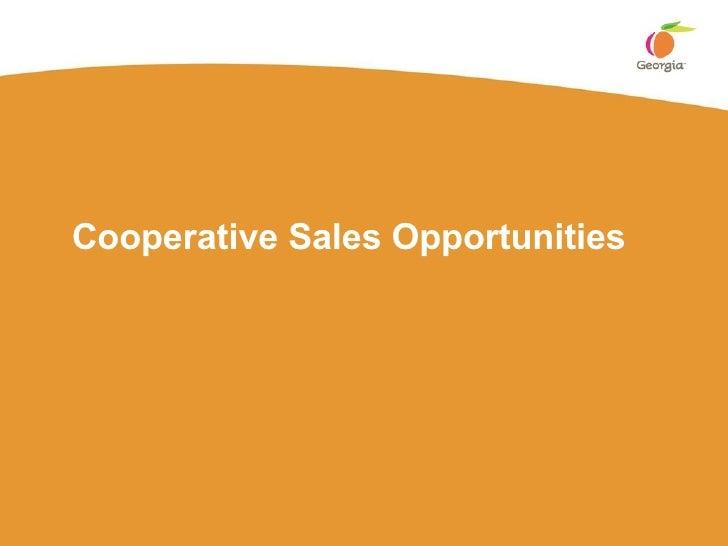 Cooperative Sales Opportunities