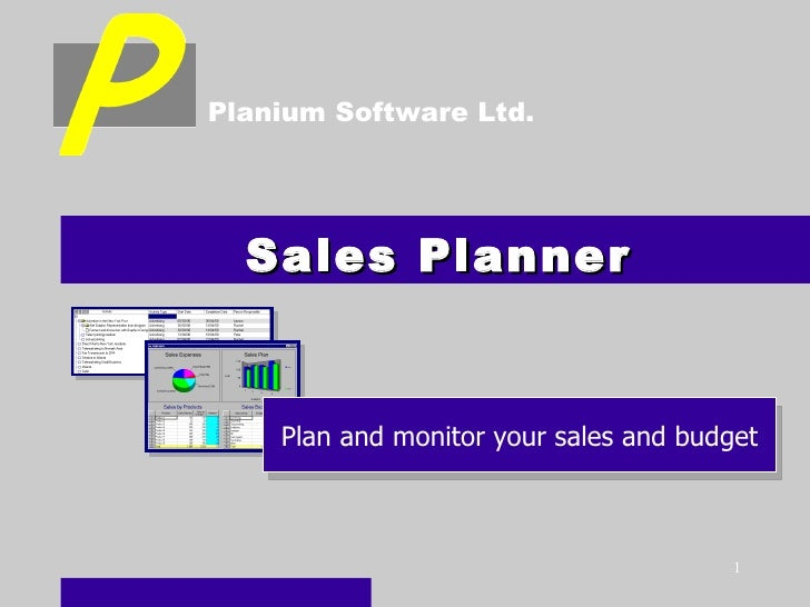Sales Planner Plan and monitor your sales and budget Planium Software Ltd.