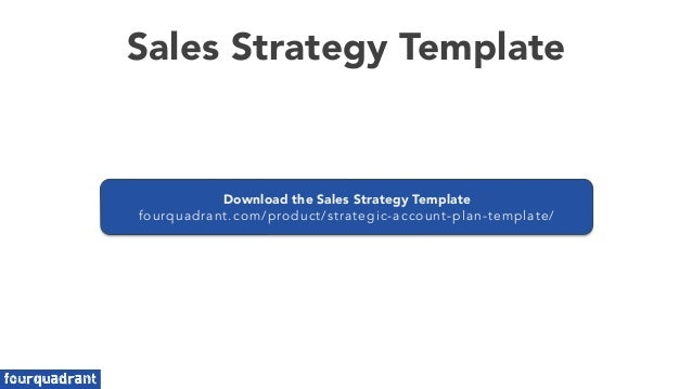 Sales Planning - Sales Strategy Template
