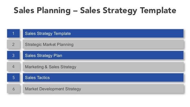 Charming Sales Planning U2013 Sales Strategy Template ...