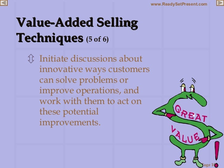 <ul><li>Initiate discussions about innovative ways customers can solve problems or improve operations, and work with them ...
